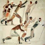 Alexander Alexandrovich Deyneka (1899-1969)  The Skiers, 1926